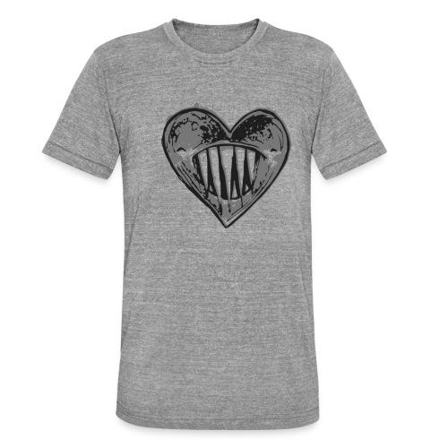 Corazón Negro - Camiseta Tri-Blend unisex de Bella + Canvas