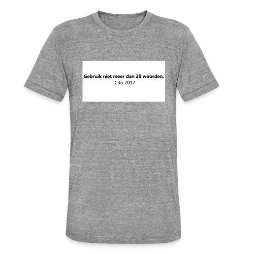 Gebruik niet meer dan 20 woorden - Unisex tri-blend T-shirt van Bella + Canvas