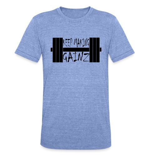 Weight + Text - Unisex Tri-Blend T-Shirt by Bella & Canvas