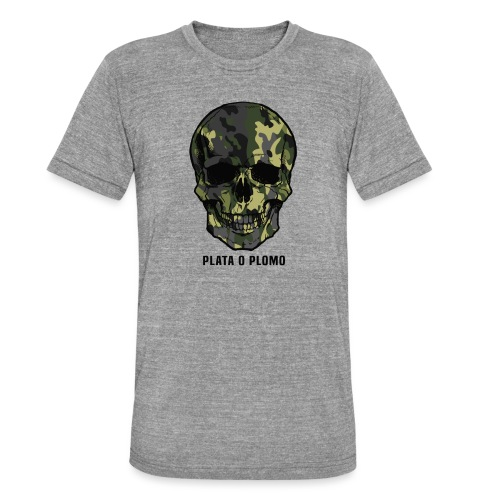 Colombian skull - plata o plomo - Unisex Tri-Blend T-Shirt von Bella + Canvas