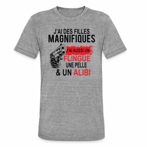 J'AI DEUX FILLES MAGNIFIQUES Best t-shirts 25% - T-shirt chiné Bella + Canvas Unisexe