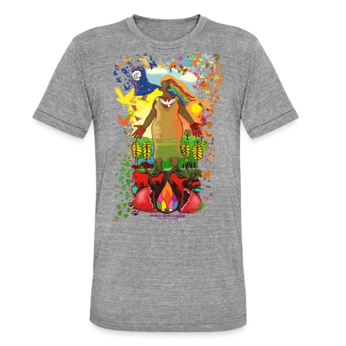 Mother Earth Creating - Unisex tri-blend T-shirt van Bella + Canvas