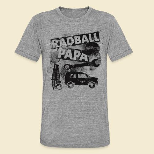 Radball   Papa - Unisex Tri-Blend T-Shirt von Bella + Canvas