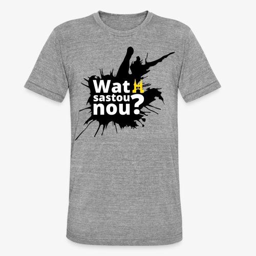 Wat sastou nou? - Unisex tri-blend T-shirt van Bella + Canvas