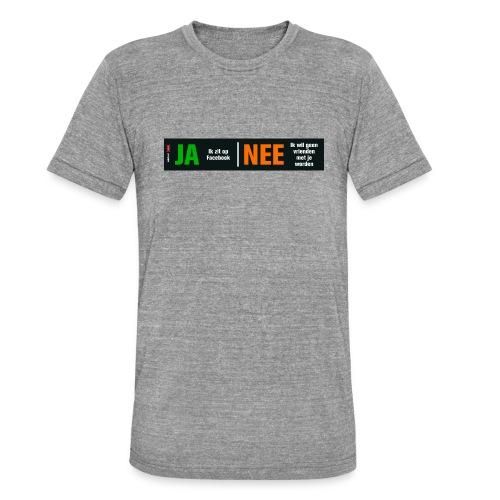 facebookvrienden - Unisex tri-blend T-shirt van Bella + Canvas