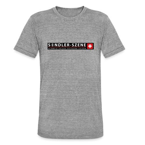 Logo schwarz - Unisex Tri-Blend T-Shirt von Bella + Canvas