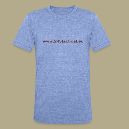 .243 Tactical Website - Unisex tri-blend T-shirt van Bella + Canvas