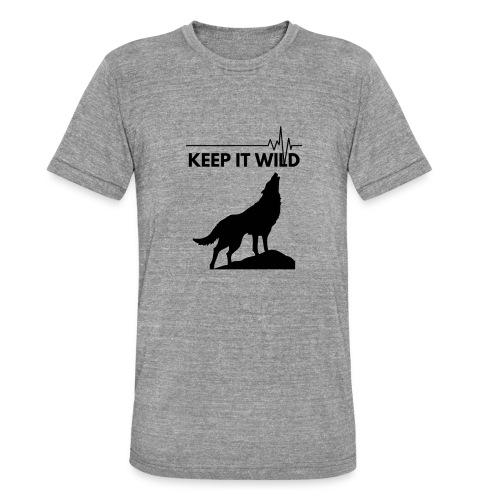 Keep it wild - Unisex Tri-Blend T-Shirt von Bella + Canvas