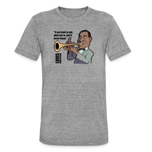 Louis Armstrong - T-shirt chiné Bella + Canvas Unisexe