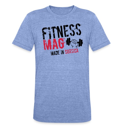 Fitness Mag made in corsica 100% Polyester - T-shirt chiné Bella + Canvas Unisexe