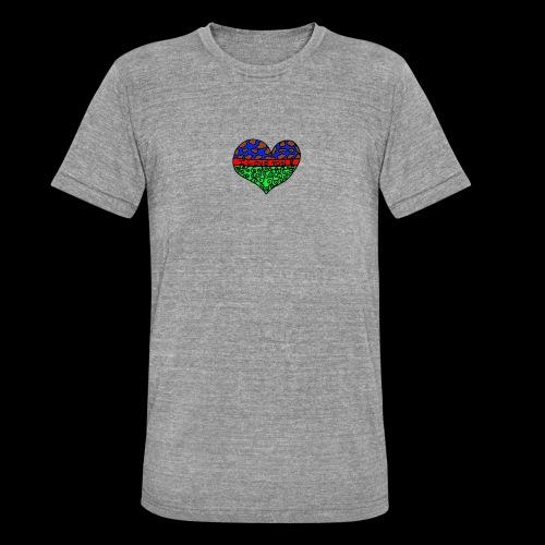 Herz Leben Welt Love you green - Unisex Tri-Blend T-Shirt von Bella + Canvas