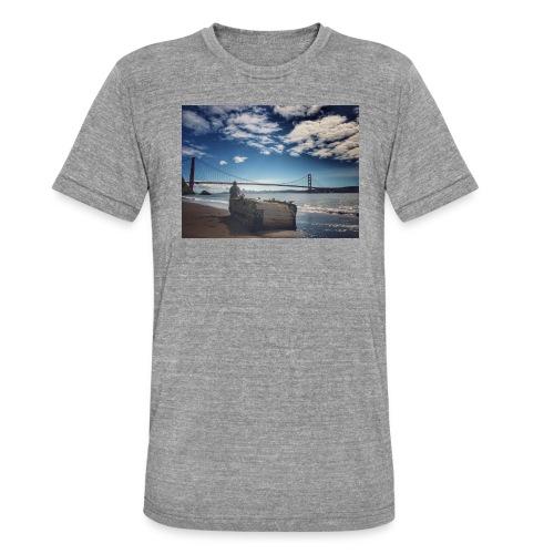 poncio - Camiseta Tri-Blend unisex de Bella + Canvas
