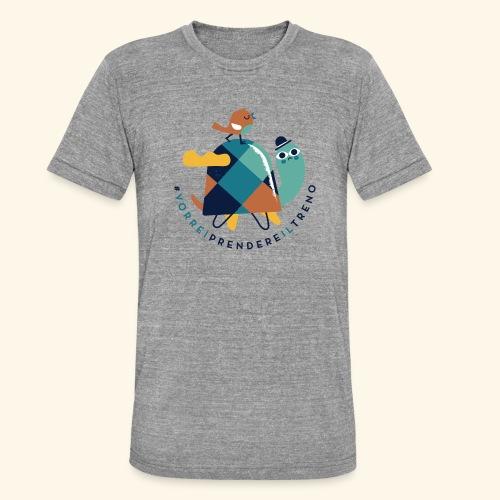 Tartaruga e uccellino - Maglietta unisex tri-blend di Bella + Canvas
