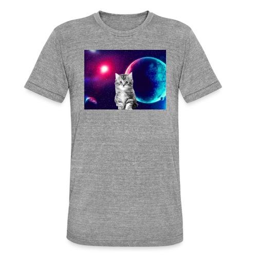 Cute cat in space - Bella + Canvasin unisex Tri-Blend t-paita.