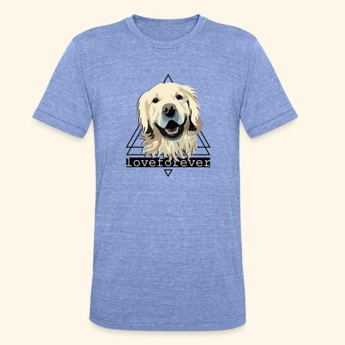 RETRIEVER LOVE FOREVER - Camiseta Tri-Blend unisex de Bella + Canvas
