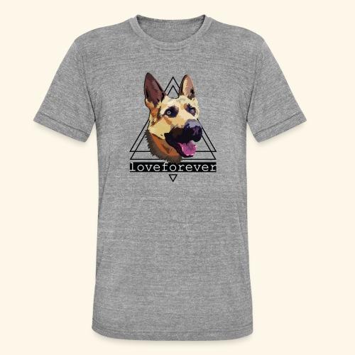 SHEPHERD LOVE FOREVER - Camiseta Tri-Blend unisex de Bella + Canvas