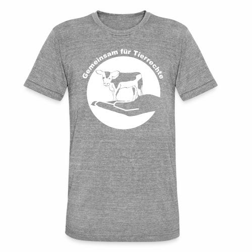 Gemeinsam fuer Tierrechte Logo - Unisex Tri-Blend T-Shirt von Bella + Canvas