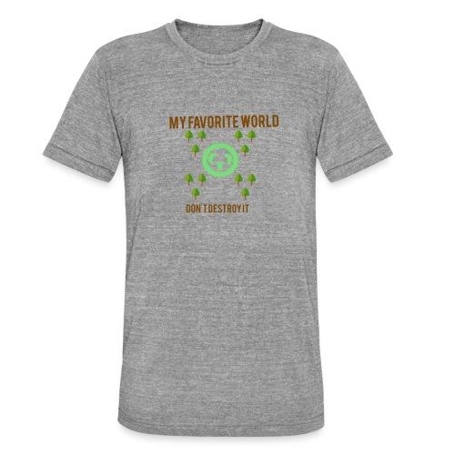 My world - Camiseta Tri-Blend unisex de Bella + Canvas