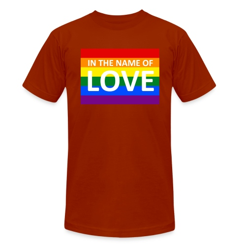 IN THE NAME OF LOVE RETRO T-SHIRT - Unisex tri-blend T-shirt fra Bella + Canvas