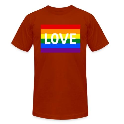 LOVE SHIRT - Unisex tri-blend T-shirt fra Bella + Canvas