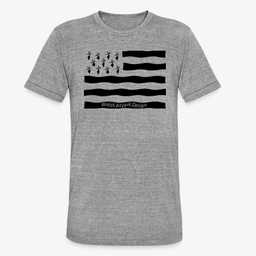 Gwenn ha Du-Noir fond transparent - T-shirt chiné Bella + Canvas Unisexe