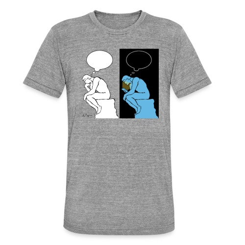 The Thinker - Unisex Tri-Blend T-Shirt by Bella & Canvas