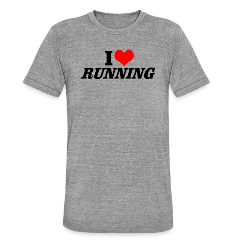 I love running - Unisex Tri-Blend T-Shirt von Bella + Canvas