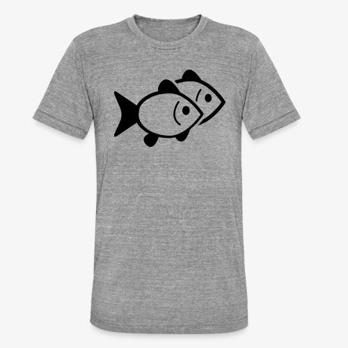 poissons - T-shirt chiné Bella + Canvas Unisexe