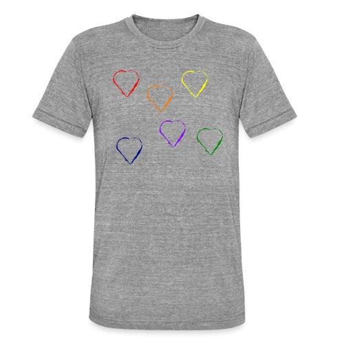 Tanzende Herzen 20.1 - Unisex Tri-Blend T-Shirt von Bella + Canvas