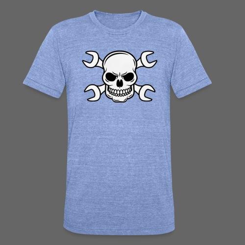 MEKKER SKULL - Unisex tri-blend T-shirt fra Bella + Canvas
