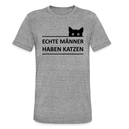 Vorschau: Echte Männer haben Katzen - Unisex Tri-Blend T-Shirt von Bella + Canvas