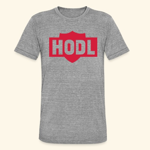 HODL TO THE MOON - Bella + Canvasin unisex Tri-Blend t-paita.
