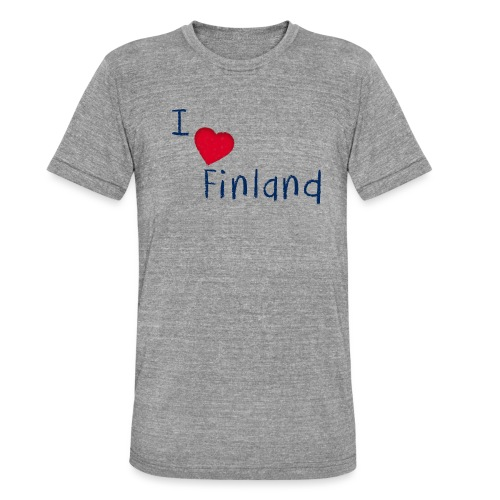 I Love Finland - Bella + Canvasin unisex Tri-Blend t-paita.