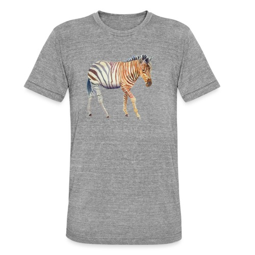 Zebra grants - Unisex tri-blend T-shirt fra Bella + Canvas