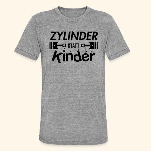 Zylinder Statt Kinder - Unisex Tri-Blend T-Shirt von Bella + Canvas
