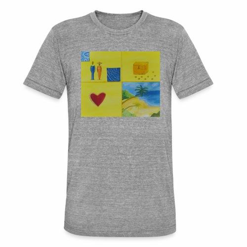 Viererwunsch - Unisex Tri-Blend T-Shirt von Bella + Canvas