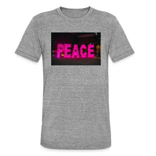 paz - Camiseta Tri-Blend unisex de Bella + Canvas