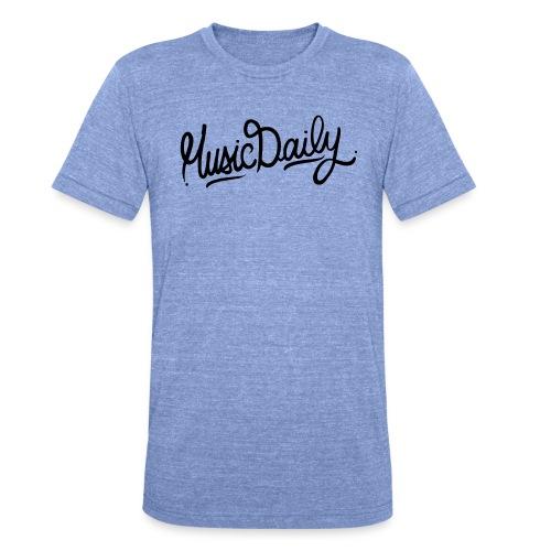MusicDaily Logo - Unisex tri-blend T-shirt van Bella + Canvas