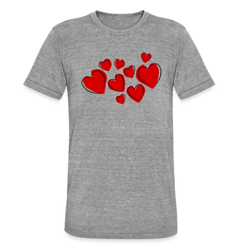 hearts herzen - Unisex Tri-Blend T-Shirt von Bella + Canvas