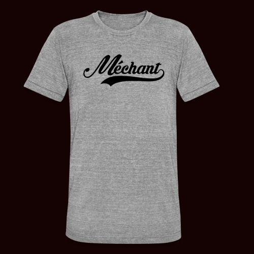 mechant_logo - T-shirt chiné Bella + Canvas Unisexe