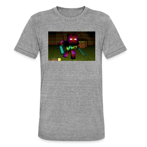 AwesomeSauce Minecraft 2 Swords - Unisex Tri-Blend T-Shirt by Bella & Canvas