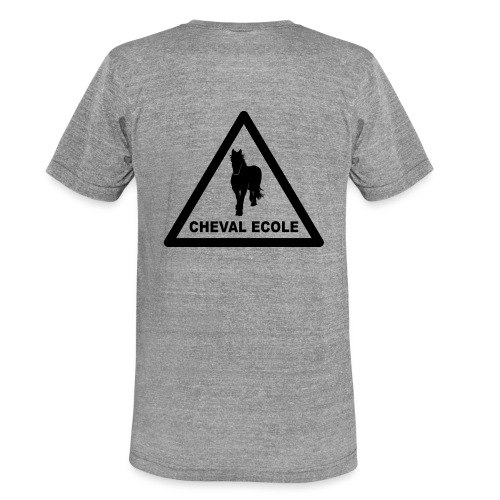 chevalecoletshirt - T-shirt chiné Bella + Canvas Unisexe