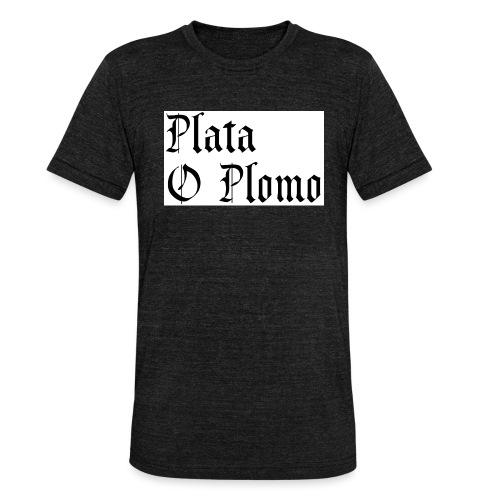 Plata o plomo - T-shirt chiné Bella + Canvas Unisexe