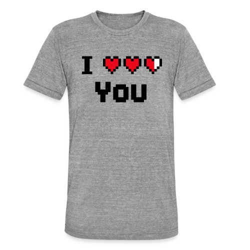 I pixelhearts you - Unisex tri-blend T-shirt van Bella + Canvas