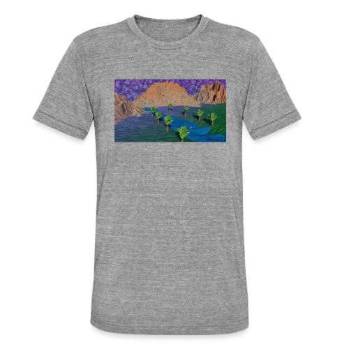 Silent river - Unisex Tri-Blend T-Shirt by Bella & Canvas