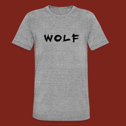 Wolf Font png - Unisex tri-blend T-shirt van Bella + Canvas