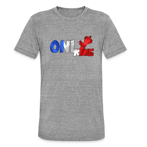 Logo ONLY KING edition francaise - T-shirt chiné Bella + Canvas Unisexe