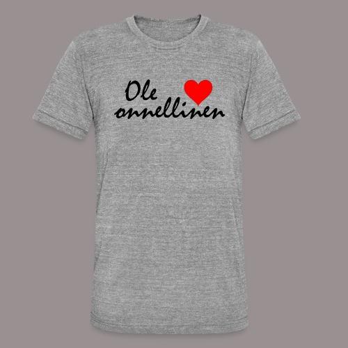 Ole onnellinen - Bella + Canvasin unisex Tri-Blend t-paita.