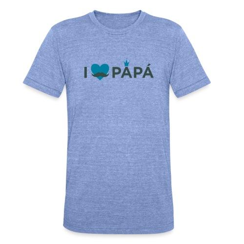 ik hoe van je papa - T-shirt chiné Bella + Canvas Unisexe