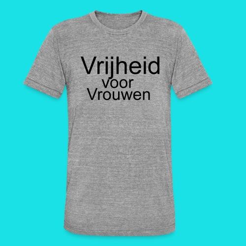Vrijheid voor vrouwen - Unisex tri-blend T-shirt van Bella + Canvas